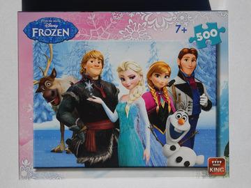 À vendre: Puzzle Disney, Frozen, Reine des Neiges, de 500 pièces incomplet