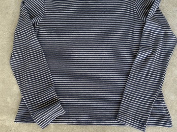 Selling: Navy and Silver Lurex Striped Top