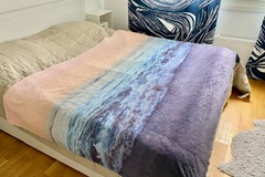 Selling: Soft blanket with sea print, 195x155 cm