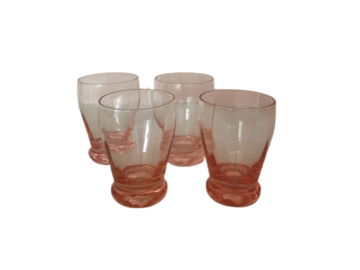 Vente: 4 verres Arcoroc Verre Rose Shooter