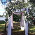 Ilmoitus: Vaaleanpunainen pitkä koristekangas