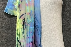 """Selling with online payment: Hand Dyed Silk and Rayon Scarf 15"""" x 60"""" Pastel Rainbow"""