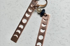 Selling with online payment: EARRINGS Night Sky Copper Moon Phases