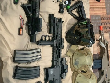 Selling: Polarstar F1 and AEG gun with accessories