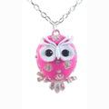 Liquidation/Wholesale Lot: Dozen Black & Pink Owl Pendant Necklaces