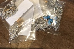 Liquidation/Wholesale Lot: Butterfly necklaces