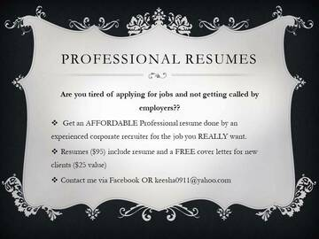 Selling with online payment: Professional Resumes--from a Corporate Recruiter