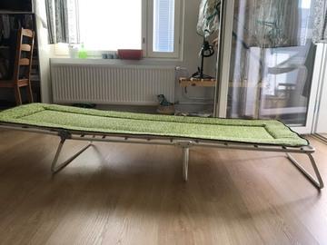 Myydään: Old Single Outdoor Folding Bed