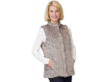 SALE: Women's Sleeveless Reversible Magnetic Front Vest