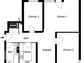 Tauschobjekt: Helle und ruhige Wohnung im Grünen gegen Häuschen