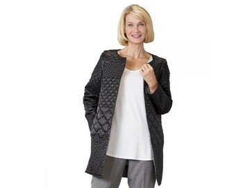 SALE: Womens Reversible Quilted Jacket with Detachable Sleeves
