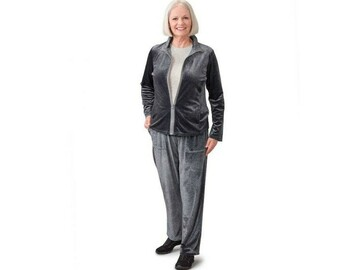 SALE: Women's Tracksuit Magzip Top Pull-On Velour Set