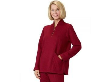 SALE: Women's Easy Dressing Open Back Half Zip Track Suit Top