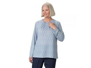 SALE: Womens Long Sleeves Adaptive Open Back Sweater Knit Top