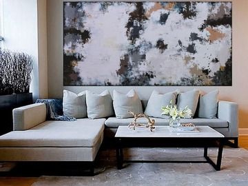 Sell Artworks: XXXL Abstract Montpellier 160 x 80cm Textured Abstract Painting