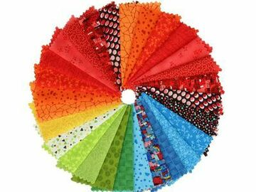 """Selling: Stof Fabric 5"""" Brights Square Pack"""