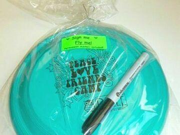 Selling A Singular Item: Peace Love Friends Camp Autograph Frisbee