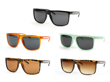 Liquidation/Wholesale Lot: Dozen Retro Wayfarer Style Fashion Sunglasses