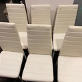 For Sale: 6 White Leather Chairs for Sale only 190NZD
