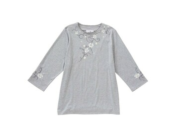 SALE: Womens Embroidered Open Back Cotton Top