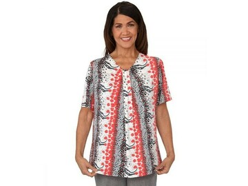SALE: Inverted Pleat Adaptive Open Back Top for Women