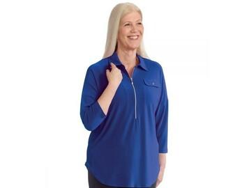SALE: Women's Zip-Front Top for Self-Dressing