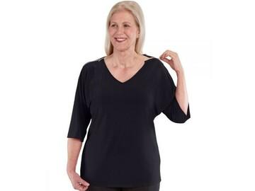 SALE: Zip-Shoulders Top For Women
