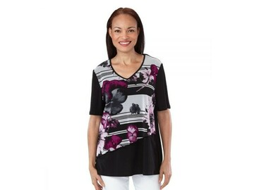 SALE: Chiffon Overlay Open-Back Top for Women