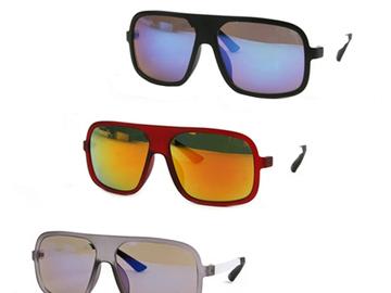 Liquidation/Wholesale Lot: Dozen Flat Top Retro Fashion Sunglasses