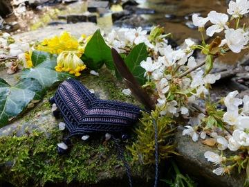 Vente au détail: Collier macramé perles de Quartz Rose