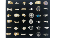 Liquidation/Wholesale Lot: 36 pieces Womens CZ Rings assorted sizes 6 thru 9