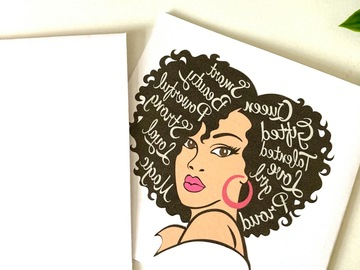 For Sale: Beautiful Black Woman - card for any occasion