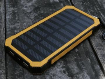 Liquidation / Lot de gros: Military grade solar battery charger super heavy duty 20000mAh