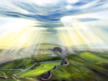 """Sell Artworks: Limited Edition Canvas Print """"Silver Lining ahead"""""""