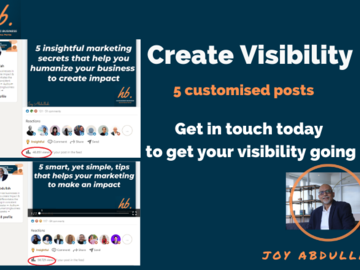 Post Package: 5 customised posts