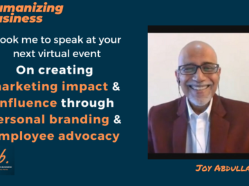 Book me to speak: How Personal Branding Makes Employee Advocacy Influenctial