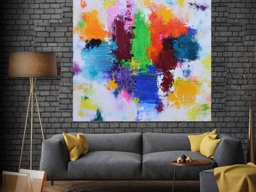 Sell Artworks: XXL Summer Serenade 80 x 80cm Abstract Painting