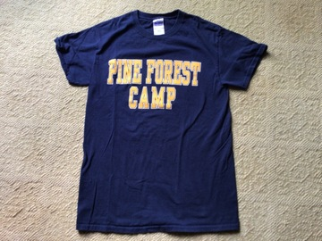 Selling A Singular Item: Adult Small Pine Forest Camp t-shirt