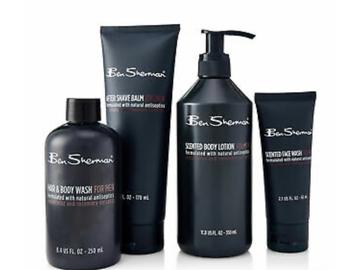 Liquidation/Wholesale Lot: 8 Ben Sherman 4-Piece Body Care Sets for Men