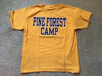 Selling A Singular Item: Youth Medium Pine Forest Camp t-shirt