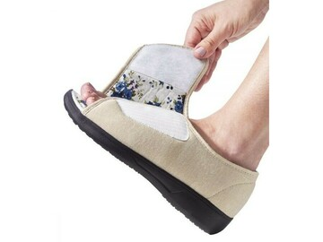 SALE: Womens Extra Wide Open-Toe Shoe with VELCRO