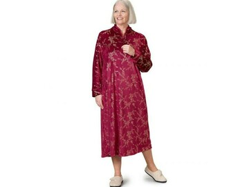SALE: Women's Open Back Plush Loungewear Nightgown