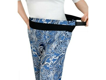 SALE: Womens Arthritis Easy Grip Wide Leg Pull On Pants