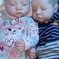 Liquidation/Wholesale Lot: 1 Lot of 2 Hoomai Reborn Lifelike Dolls Boy/Girl Twins