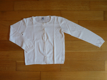 Vente: Gilet blanc Petit Bateau 8-9 ans TBE