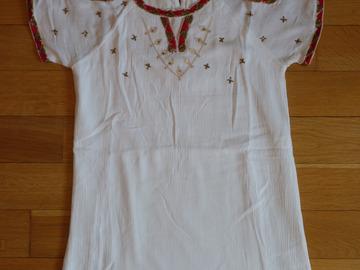 Vente: Robe blanche Kaporal 8 ans TBE