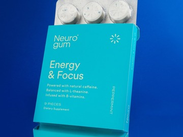 Selling: Neuro Gum Energy and Focus   Peppermint Flavor   12 pack