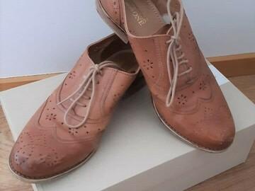 Myydään: Leather shoes size 38