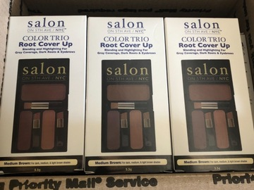 Liquidation/Wholesale Lot: 10 Salon on 5th Ave/NYC Color Trio Root Cover Up Medium Brown
