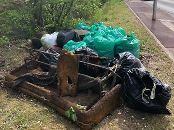Actualité: Ramassage de déchets dans la Plaine de Montesson